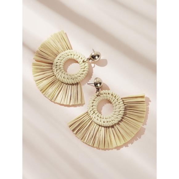36b81939b2 SHEIN Jewelry | Tassel Fan Shaped Earrings | Poshmark